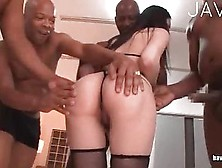 Asian Slut Gets Shared In Gangbang