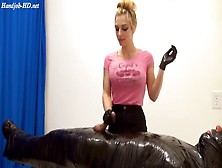 Hand-Job Fendom Torture With Latex Gloves Two
