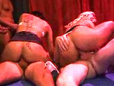 Two Hot German Girls In Gangbang