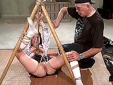 Girlfriend Wanted To Try Bdsm And Her Older Lover Does It Gladly