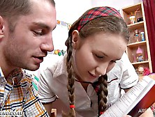 Russian School Girl First Time Anal Sex After School