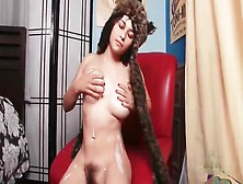 Hairy Cunt Girl In A Fuzzy Cap Masturbates Solo