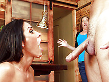 Veronica Rayne Caught With A Face Creamed In White Cum