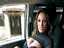 Busty Hottie Blows Cock Of Driver And Receives It Into Her Slits