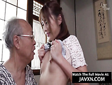 Japanese 18Yo Teen Humped By Grandpa