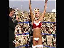 Wwe Divas Sable Torrie Wilson & Dawn Marie Christmas Striptease For Troops