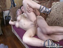 Naughty America - Blonde Devon Lee Fucking In The Living Room