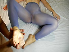 Ticklig Feet,  Legs And Soles Massage,  Milf In Nylon Pantyhose - Legs Obsession