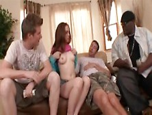 Teen Redhead Picked Up + Paid To Strip Then Fuck Big Cock Strang