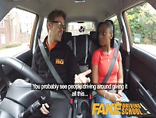 Fake Driving School Ebony Learner With Big Tits Is Worst Driver
