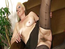 Mywifesmom - Old Blonde Granny Photosession And Cock Riding