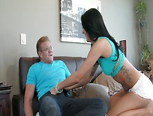 Sabrina Banks Seduces Her Dad's Older Friend To Fuck Her In The