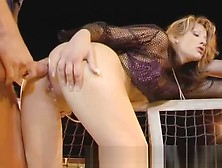 Ass Traffic Tennis Fan Jessica Has Hard Anal With Two Guys