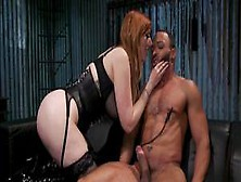 Busty Femdom Gets Rimjob From Black Sub (Big Black,  Lauren Phillips)