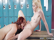 Cute Lesbian Teens Chloe Cherry & Molly Stewart Porn Video