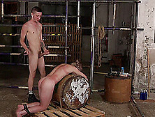 Rough Mouth And Ass Fucking By A Perv For His Helpless Male Slave