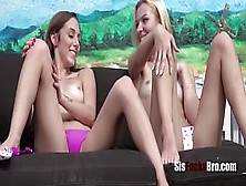 Lezbo Sister Caught And Blackmailed- Dani Blue And Sophia Sexy