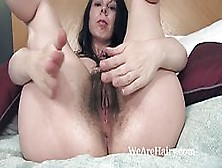 Dirty Minded Brunette,  Emily Winters Is Playing With Her Bushy Pussy,  In Front Of The Camera