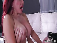 Red Haired Cougar,  Vanessa Is Giving A Balls Deep Blowjob To A H