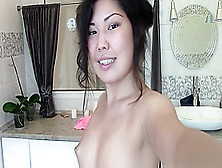 Seductive And Skinny Asian Lass Is Posing Her Ass Off