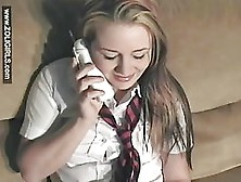Lonely Schoolgirl Is Dreaming About Her Lover And Getting Ready To Play With Her Pussy