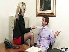 Attractive Chick Sindy Lange Seduces Her Boss And Gets Her Muff