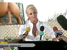 Sexy Blonde Journalist Phoenix Marie Gets Rough Anal Sex