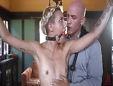 Tied Slim Blonde Sophia Gets Rough Anal Bdsm