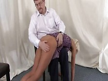 Katie Spanked Otk And Strap