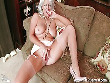 Horny Blonde With Big Tits Lu Elissa Wanks Off In Rare Vintage S