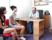 Naked Girl Is Having A Medical Exam And Enjoying While Her Docto