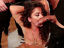 Long Haired Pretty Slut Victoria Voxxx Gangbanged Hardcore In Bo