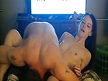 Slim Teen Brunette With Tiny Tits Is Fucking A Friend And Enjoying It More Than She Expected