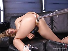 Seducing Towheaded Lyra Law In Ultra Glam Fetish Fun