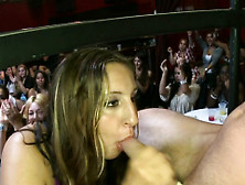 Hot Gals Sucks Pecker And Gets Cum All Over Her Face