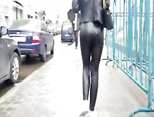 Hot Small Ass In Leather Pants