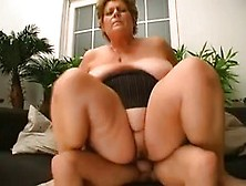 Granny From Hungary Puts On Her Glasses To See A Cock Better As