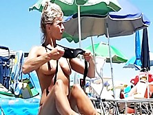 Hot Topless Milf At Jesolo Beach Italy