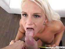 Czech Blonde Sucking Cock