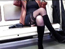 Crotch Flashing On The Public Metro