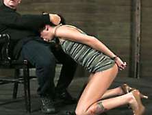 Skinny Milf Hailey Young Handcuffed And Facefucked