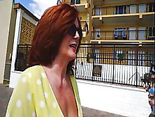Seductive Woman With Red Hair And Big Tits,  Andi Is Being Very N