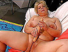 Lusty Mature Bbw Is Madly In Love With A Long Sex Toy