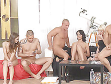 Sophie Lynx In A Hardcore Orgy With Her Slutty Friends And Buffe
