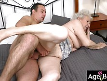 Granny Norma Moans As Rob Pounded Her