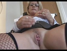 Secretary mature and stockings by snahbrandy