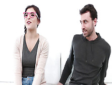 Nerdy Leah Gotti Gets Some Rough Sex From James Deen