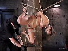 Tied Up Bitch Charlotte Cross Gets Punished In The Basement