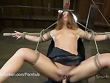 Teen Blonde Ash Hollywood Submits To Rope And Throatfucking