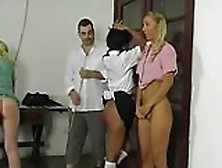 Three Girls Caning